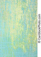 青, ブラウン, 古い, ぼろぼろ, 抽象的, 黄色, パターン, fabric:, 背景, textured, 背景