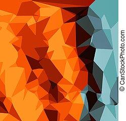 青, ブラウン, 抽象的, 緑, オレンジ