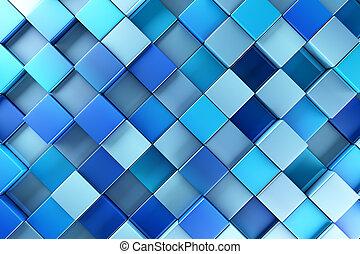青, ブロック, 抽象的, 背景