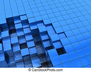 青, ブロック, 背景