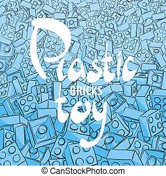 青, プラスチック, 背景, コンストラクター