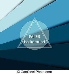 青, ベクトル, 抽象的, ペーパー, 背景, sheets.