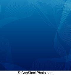 青, ベクトル, 抽象的, 背景, 曲がった, フレーム