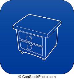 青, ベクトル, nightstand, アイコン