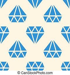 青, ベクトル, seamless, 背景, ダイヤモンド