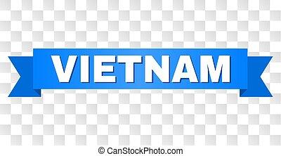 青, ベトナム, リボン, タイトル