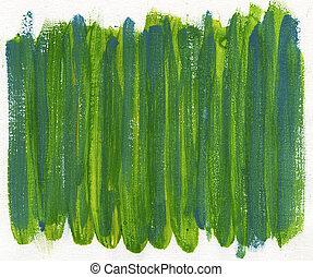 青, ペイントされた, キャンバス, 緑の概要