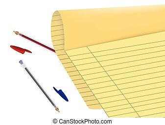 青, ペン, 赤, ペーパー, シート, ボールペン, プロトコル