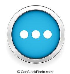 青, ボタン, ベクトル, チャット, アイコン