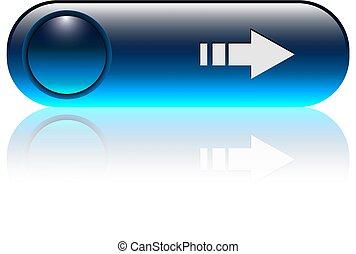 青, ボタン, 矢