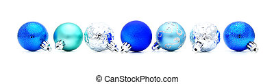 青, ボーダー, クリスマス安っぽい飾り
