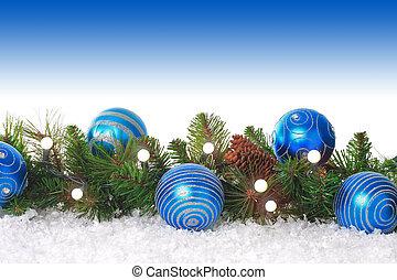 青, ボーダー, クリスマス