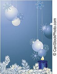 青, ボール, クリスマス