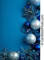 青, ボール, ボーダー, クリスマス
