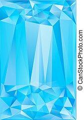 青, ポスター, 抽象的, ベクトル, 背景, 三角形