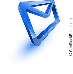 青, メール封筒