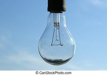 青, ランプ, 空, 電気である, 背景