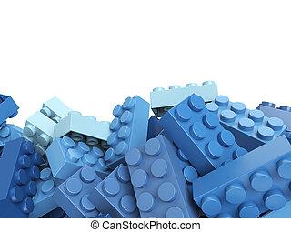 青, レンガ, おもちゃ, 背景, プラスチック