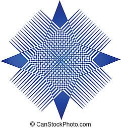 青, ロゴ, abstrat, グラフィック, app