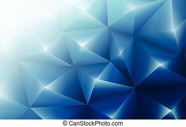 青, 三角形, 背景, 3d