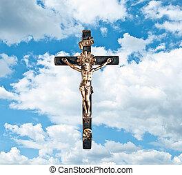 青, 上に, 空, キリスト, イエス・キリスト