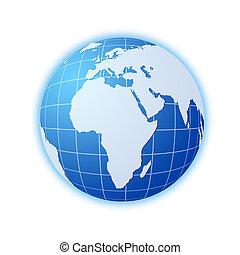 青, 世界地球儀
