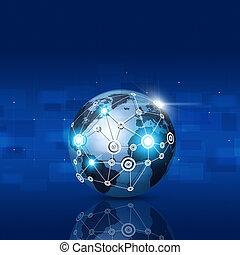 青, 世界的なネットワーク, 背景