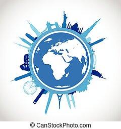 青, 世界, 都市の景観, 風景