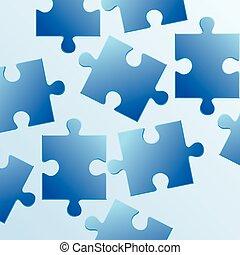 青, 作られた, puzzleabs, 背景