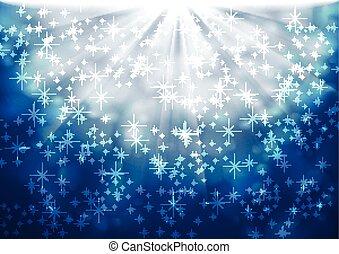 青, 光っていること, ライト, ベクトル, 背景, 光沢がある