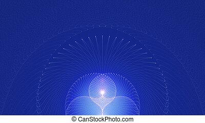 青, 光線, ライト, 抽象的, バックグラウンド。, 白熱, 背景, 宗教, 広がる
