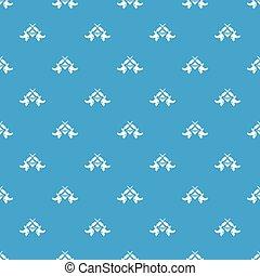 青, 入れ墨, パターン, seamless, 機械, ベクトル