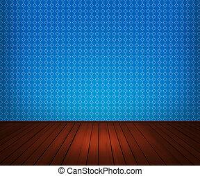 青, 内部, 部屋, 背景