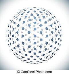 青, 円, デザイン, 球, 要素
