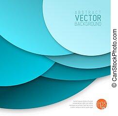 青, 円, 作られた, 抽象的, ベクトル, 背景