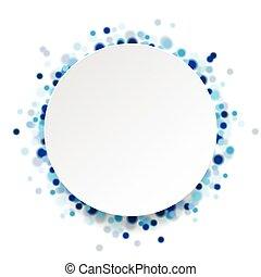 青, 円, 抽象的, ベクトル, 背景, 光沢がある