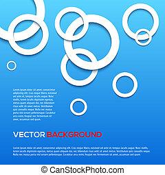 青, 円, 抽象的, 3d, バックグラウンド。