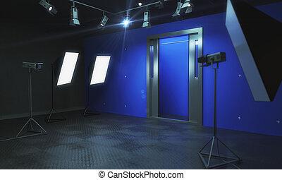 青, 写真の スタジオ