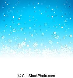 青, 冬, 背景