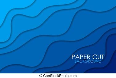 青, 切口, レイアウト, カラフルである, ビジネス, shapes., invitations., ペーパー, ポスター, ベクトル, デザイン, 背景, 彫刻, フライヤ, 芸術, プレゼンテーション
