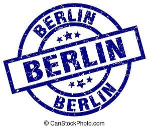 青, 切手, ベルリン, グランジ, ラウンド