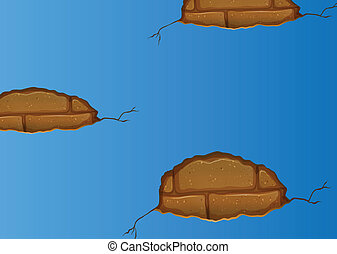青, 割れる, stonewall