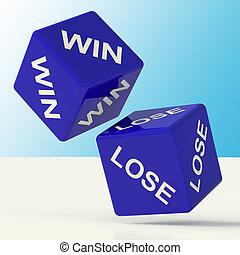 青, 勝利, さいころ, 失いなさい
