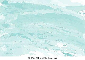 青, 勾配, 抽象的, 水彩画, 背景