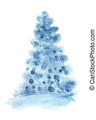 青, 単純である, クリスマスツリー