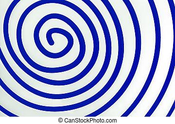 青, 単純である, 白, らせん状に動きなさい, 背景