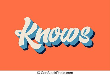 青, 単語, 知る, テキスト, 活版印刷, 書かれている手, デザイン, オレンジ, ロゴ, 白