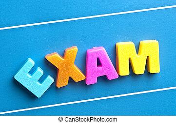 青, 単語, 試験, 板
