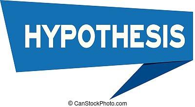 青, 単語, (vector), ペーパー, スピーチ, 背景, hypothesis, 白, 旗