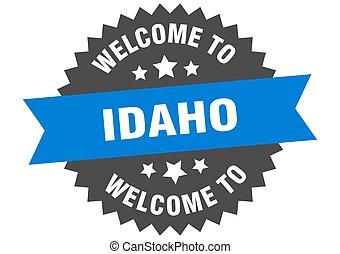 青, 印。, ステッカー, アイダホ, 歓迎
